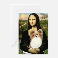 Mona & her Fawn Papillon Greeting Card