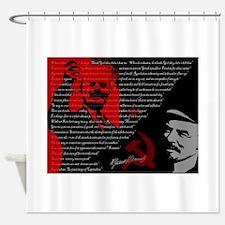 Lenin Shower Curtain