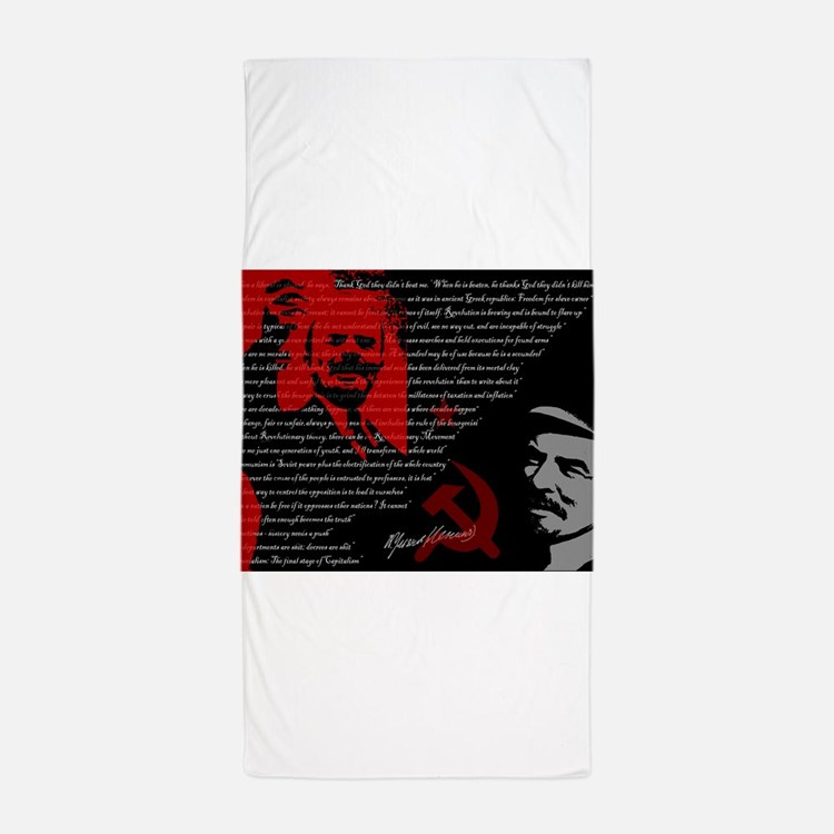 Lenin Beach Towel