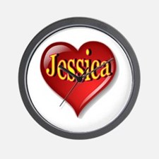 Jessica Heart Wall Clock