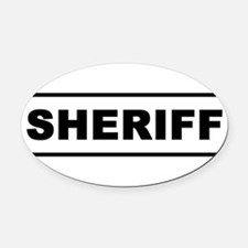 Sheriff Oval Car Magnet