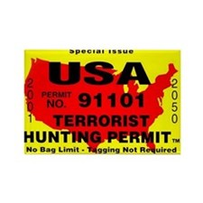 Terrorist Hunting Permit Rectangle Magnet