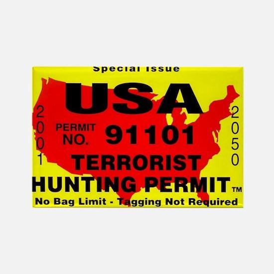 Terrorist Hunting Permit Rectangle Magnet