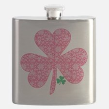 Pink Shamrocks Wee Green Flask