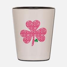 Pink Shamrocks Wee Green Shot Glass