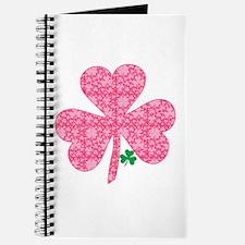 Pink Shamrocks Wee Green Journal