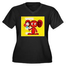 Cheburashka Soviet Animation Soy Plus Size T-Shirt