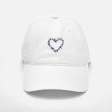 Purple Flower Heart Baseball Baseball Cap