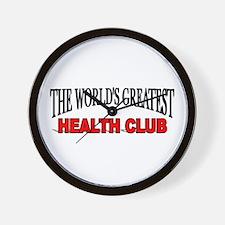 """The World's Greatest Health Club"" Wall Clock"