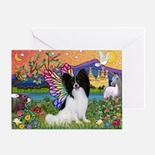Papillon Butterfly in Fantasy Greeting Card