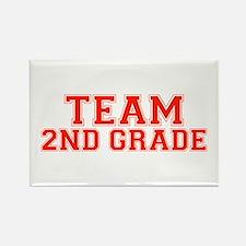 Team 2nd Grade Rectangle Magnet