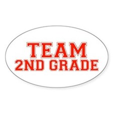 Team 2nd Grade Oval Decal