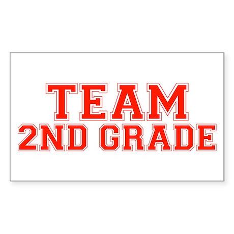 Team 2nd Grade Rectangle Sticker