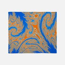 Blue and Orange Throw Blanket