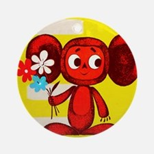 Cheburashka Soviet Animation Soyu Ornament (Round)