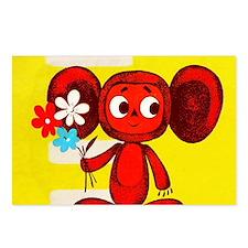 Cheburashka Soviet Animat Postcards (Package of 8)