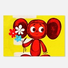 Cheburashka Soviet Animat Postcards (Package of 8)