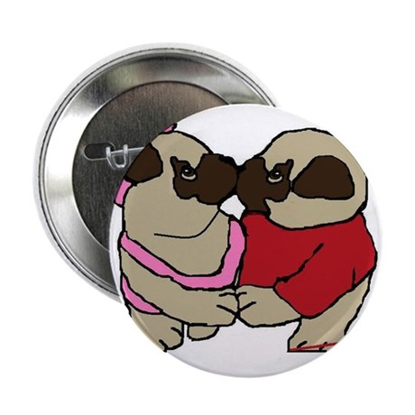 Kissing Pug Buttons