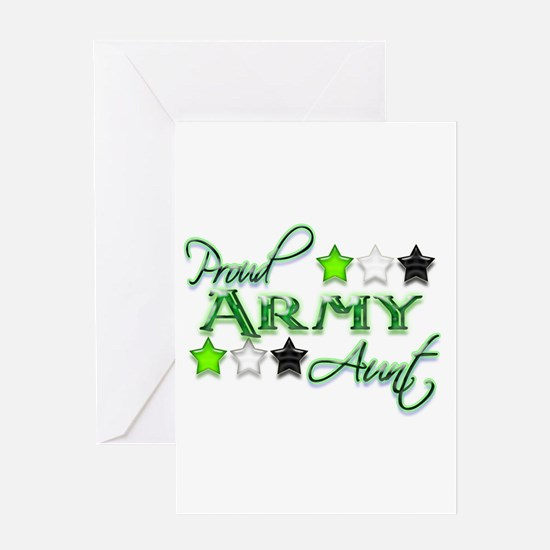 Army Star Aunt Greeting Card