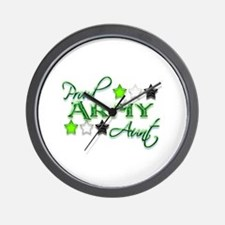 Army Star Aunt Wall Clock