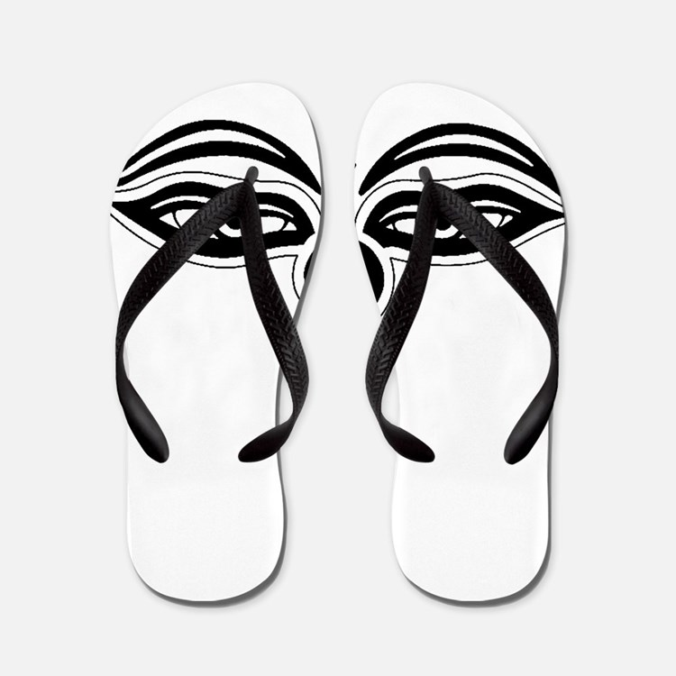 Cute Buddha eyes Flip Flops