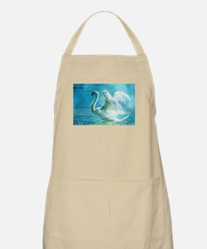 Swan Flapping Wings on Water Apron