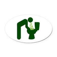 St. Patrick's Day Aftermath Oval Car Magnet