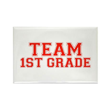 Team 1st Grade Rectangle Magnet (100 pack)