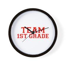 Team 1st Grade Wall Clock