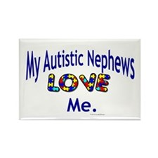 My Autistic Nephews Love Me Rectangle Magnet