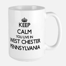 Keep calm you live in West Chester Pennsylvan Mugs