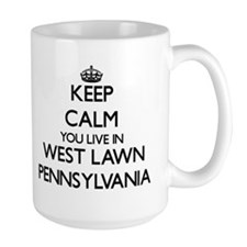 Keep calm you live in West Lawn Pennsylvania Mugs