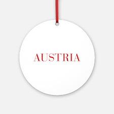 Austria-Bau red 400 Ornament (Round)