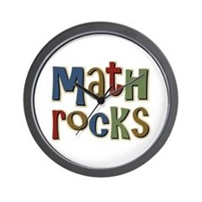 Math Rocks Arithmetic Geek Wall Clock