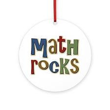 Math Rocks Arithmetic Geek Ornament (Round)