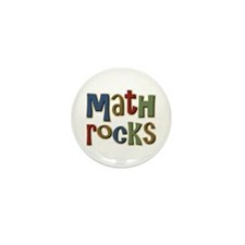 Math Rocks Arithmetic Geek Mini Button (10 pack)