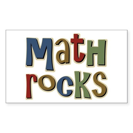 Math Rocks Arithmetic Geek Rectangle Sticker