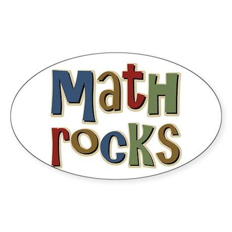 Math Rocks Arithmetic Geek Oval Sticker
