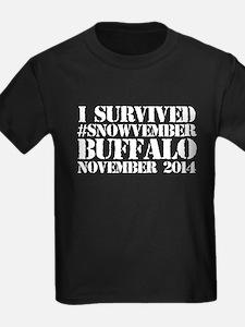 Cool 'I survived #snowvember Buffalo Novem T-Shirt