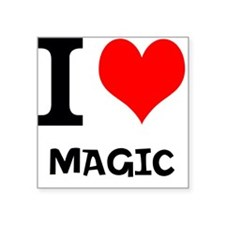 "Cute Magician Square Sticker 3"" x 3"""