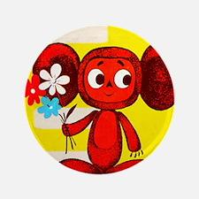 """Cheburashka Soviet Animation Soyuzmult 3.5"""" Button"""
