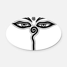 Buddha eyes tibet rebirth Symbol B Oval Car Magnet
