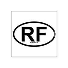 "Funny Black rock city Square Sticker 3"" x 3"""