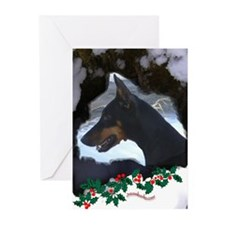 Dobe & Holly Greeting Cards (Pk of 20)
