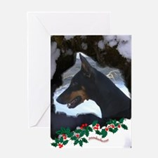 Dobe & Holly Greeting Card