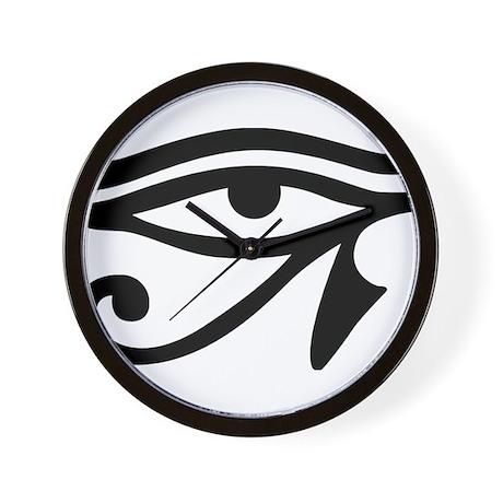 eye of horus ancient egyptian symbol ra wall clock by