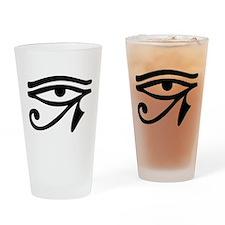 Eye of Horus ancient Egyptian symbo Drinking Glass