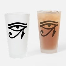 Eye of Horus ancient Egyptian symbo Drinking Glass
