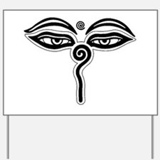 Buddha eyes tibet rebirth Symbol Buddhis Yard Sign