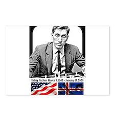 Robert Bobby Fischer Amer Postcards (Package of 8)